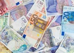 Irland Währung - Euro - Pfund - Sterling