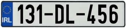 Autonummern Irland 2013